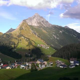 Blick auf Warth - Dorfrundgang