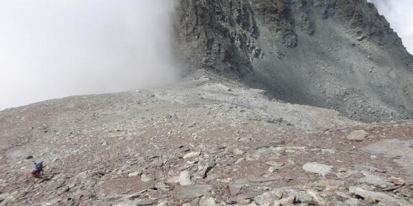 Das Joch vor dem Gipfel