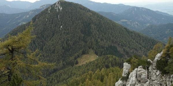 Blick zurück zur Jenkalm und Goli 1787 m