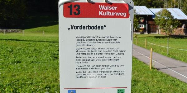 Vorderboden am Walser Kulturweg