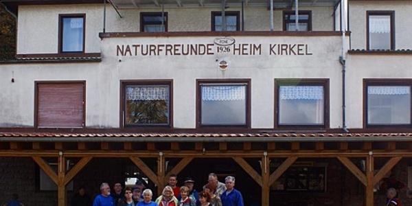 Naturfreundehaus bei Start/Ziel