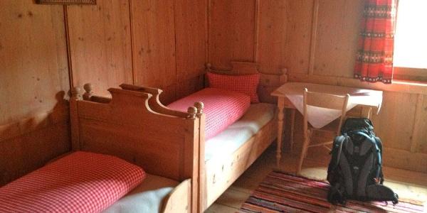 Zimmer des Tuxerjoch-Haus
