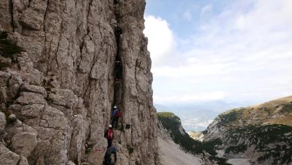 Entrance to the Ferrata delle Taccole