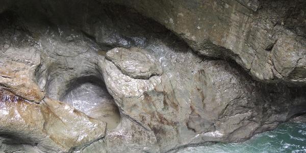 Felsenbecken in der Breitachklamm