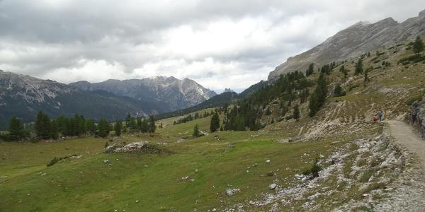 Blick zurück über die Plätzwiese