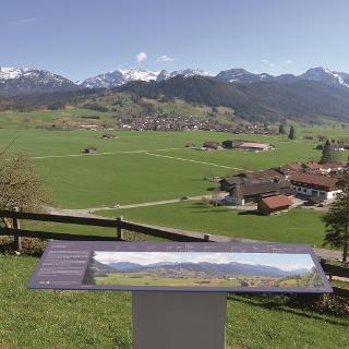 Ausblick bei St. Peter in Halblech