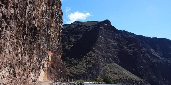 Schotterpiste von Vueltas zur Finca de Argayall
