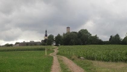 Weg hinauf nach Thierstein (Aug. 2015)