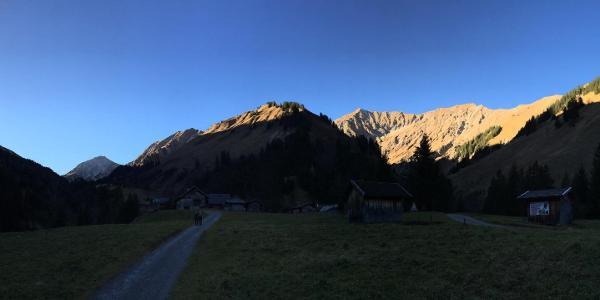 Aufstieg nach der Fallerschein Alpe