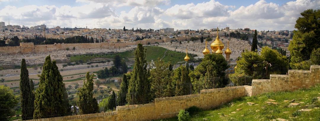 Blick vom Ölberg über Jerusalem