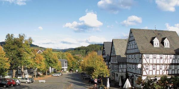 Marktplatz Hilchenbach - Start und Ziel jeder Tour