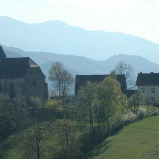 Blick zur Georgibergkirche