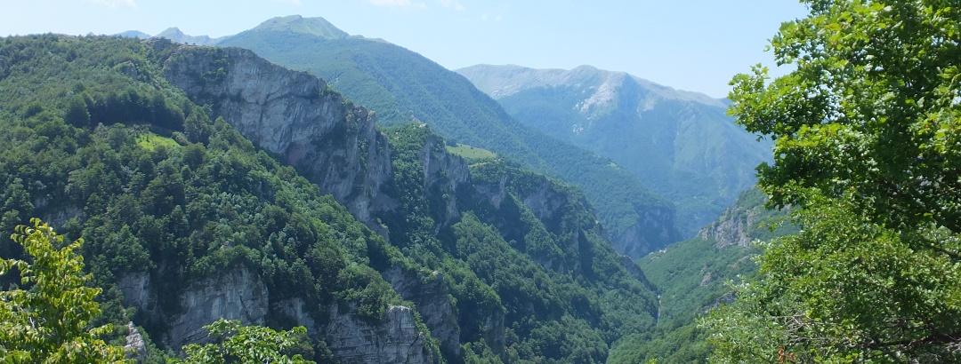 Berglandschaft in Bosnien und Herzegovina