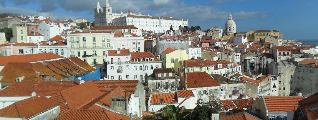 Blick über die Stadt Lissabon