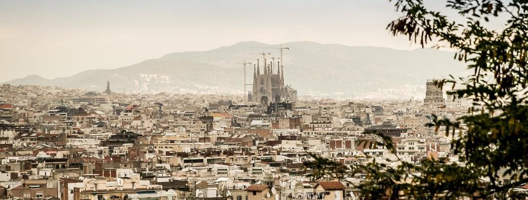 View of the Sagrada Familia in Barcelona
