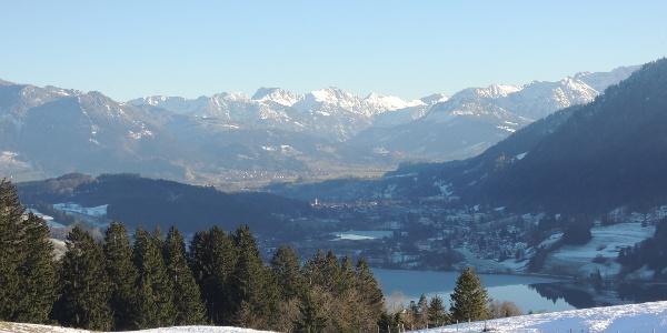 Ausblick auf Immenstadt und die Alpen