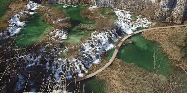 Drveni mostići na Plitvičkim jezerima