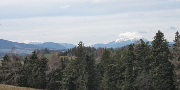 Blick aus der Buckligen Welt zum Schneeberg (19.12.2014)