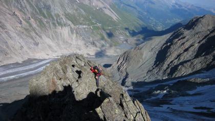 Eine der wenigen klettertechnischen Stellen.