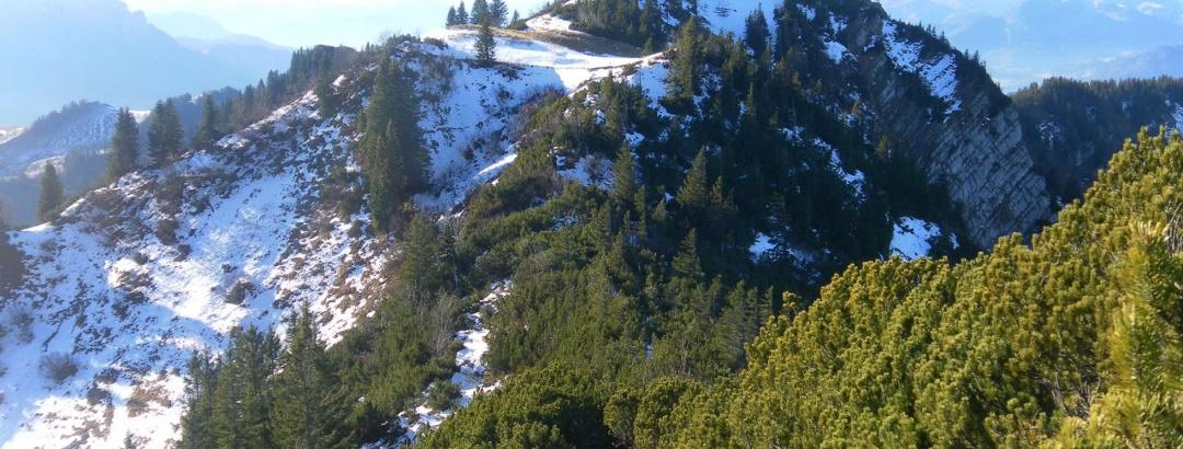 Rückblick vom Wandspitz zur Mühlhornwand