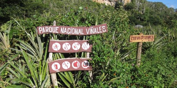 die Klettergärten im Vinales Tal liegen im Naturschutzgebiet!