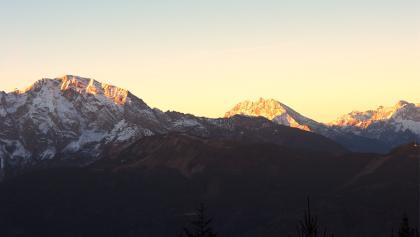 Sonnenaufgang am Hohen Göll, Watzmann und Hochkalter