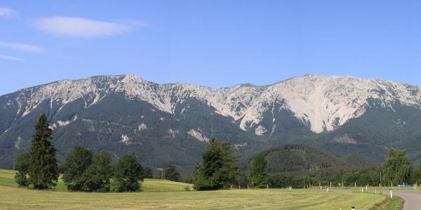 Schneeberg Panorama von Losenheim gesehen
