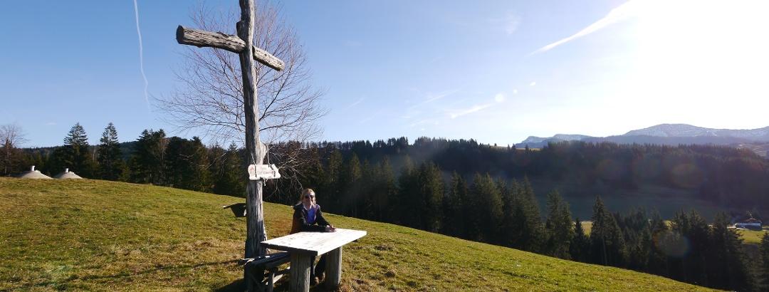 "Beim Aussichtspunkt ""Säntisblick"""