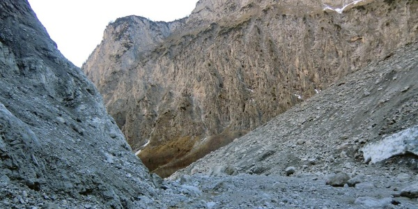 Der Weg zur Eiskapelle am Königssee