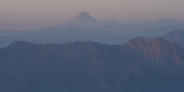 View at Mon Viso from Ca d'Asti
