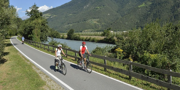 Bike route along via Claudia Augusta - Naturno