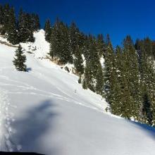 Kurz vor der bergstation