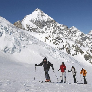 Ski touring in the holiday area Passo Resia
