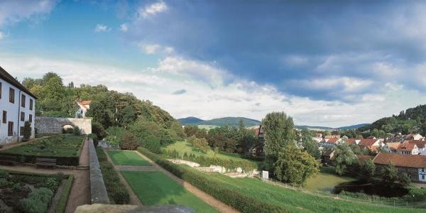 Schloß Wilhelmsburg Schmalkalden Panorama nach Süden