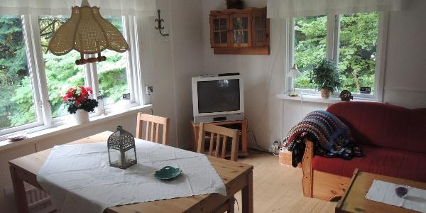 Aufenthaltsraum der Hütte im Körsbärsdalens Bed&Breakfast
