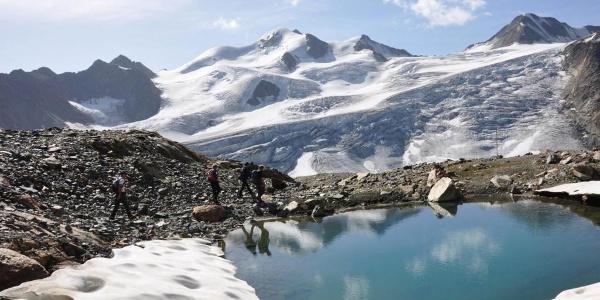 Schmelzwasser, Gletscher, Wildspitze und Traumwetter - fertig ist das Bildmotiv
