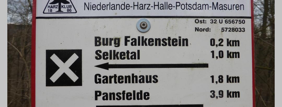 Schilder des Harzklubs