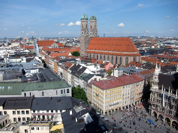 Munich's Marienplatz and the Frauenkirche