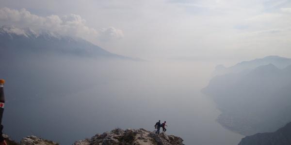 Von der Cima Larici Blick auf den Gardasee