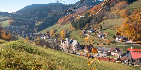 Blick auf die Ortsmitte von Bad Griesbach