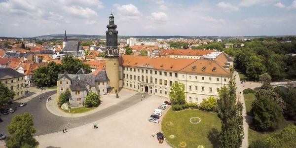 Luftaufnahme aus Süden - Stadtschloss - Weimar