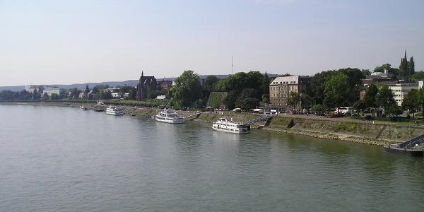 Blick von der Kennedybrücke zur Bonner Altstadt