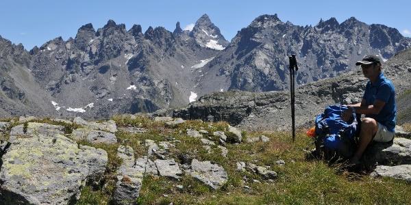 Vergaldner Joch, Blick Richtung Silvretta