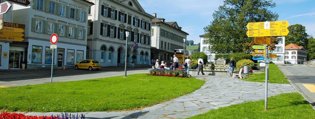 Der Dorfplatz Heiden