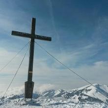 Das Gipfelkreuz des Sipplinger Kopfes