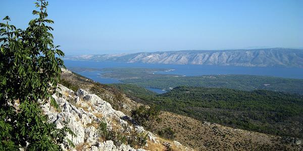 Die Bucht von Stari Grad - im Hintergrund Brac