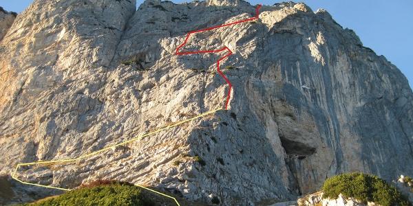 Südwand - Routenverlauf