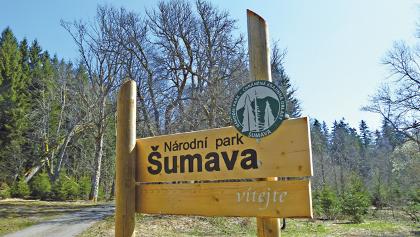 Eingang Sumava Nationalpark