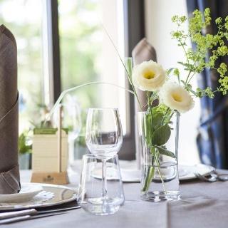 Tisch im Landhotel Saarschleife