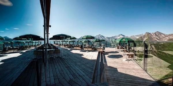 Blick von der Terrasse des Restaurants Sattel